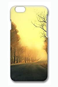 Case Cover For Ipod Touch 4 3D Fashion Print Drop Protection Case Cover For Ipod Touch 4 Autumn Road In Misty Morning Scratch Resistant es