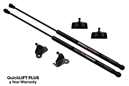 Redline Tuning 21-20002-02 Hood QuickLIFT PLUS Bolt-in System V2 (All Black Components, 4 year warranty) Compatible for Jeep Wrangler JK (2007-2017)