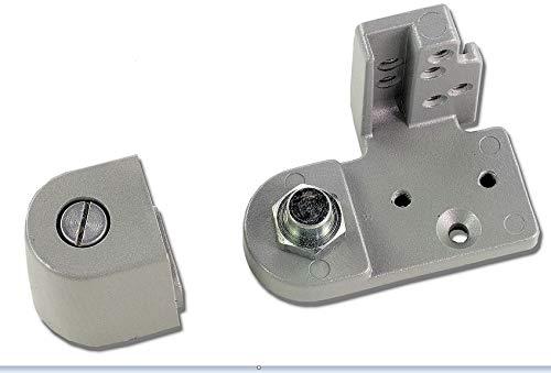 Global Door Controls Right Hand Offset Bottom Pivot in Aluminum ()