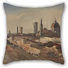 Oil Painting Hercules Brabazon Brabazon - Florence Pillow Cases 16 X 16 Inches / 40 By 40 Cm Best Choice For Boy Friend Kitchen Divan Sofa Wedding Bedding With Twin Sides