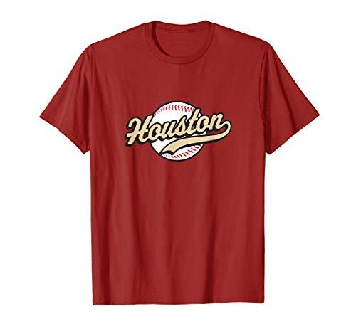 (Houston T-shirt Vintage Baseball Throwback Retro Astro Tee)