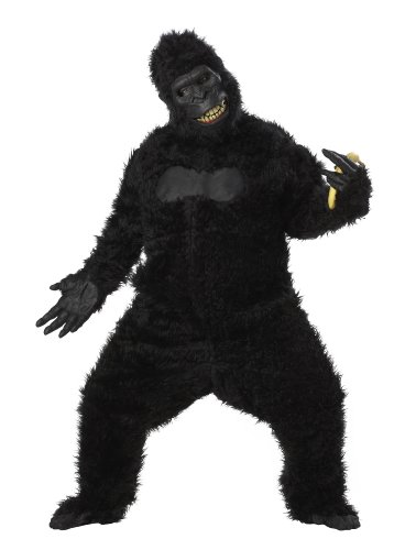 California Costumes Goin' Ape Bodysuit, Black, One Size (Adult Gorilla Costume)