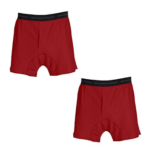 Exofficio Men's Give-N-Go Boxer - 2 Pack (XL, Tango)