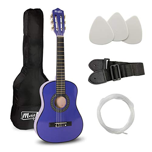 Music Alley 6 String 30 inch Half Size Junior Guitar For Young Kids, Blue (MA-52)