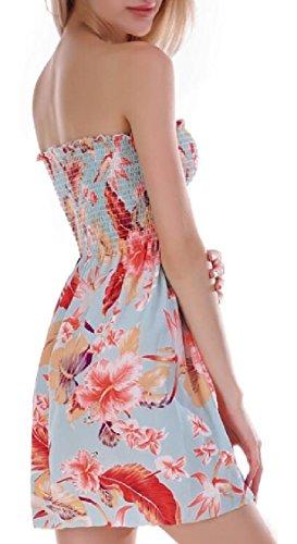 Print Tube Summer Mini Jaycargogo Dress Floral Dress 3 Womens Skater TtqOw7O