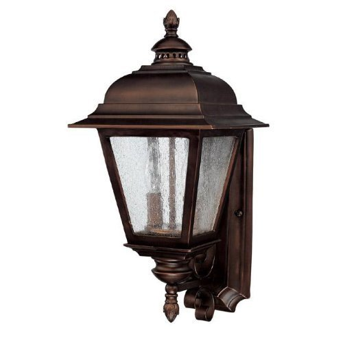 Capital Lighting 9962BB Outdoor Wall Fixture with Seeded Glass Shades, Burnished Bronze Finish by Commercial Lighting