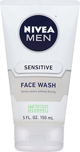NIVEA Men Sensitive Face Wash - Cleanses Without Drying Sensitive Skin - 5 fl. oz. Bottle (Best Face Cleaner For Men)