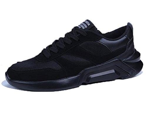 [カナクレール] スニーカー メンズ ローカット ランニングシューズ カジュアル 運動靴 3色展開(黒 グレー 白黒)