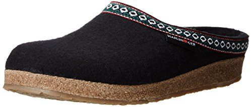 Wool Womens Clogs (Haflinger GZ Clog,Black,44 EU/Women's 13 M US/Men's 11 M)