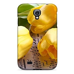 Top Quality Rugged Tulips Case Cover For Galaxy S4
