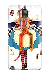 Hot Women Cards Dress Alice Pixiv Bunny Ears White Striped Legwear First Grade Tpu Phone Case For Galaxy Note 3 Case Cover