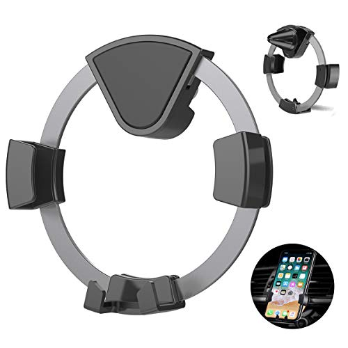 Car Phone Mount, Kissral Air Vent Auto-Locking Car Phone Holder with Gravity Sensor Design for 4-6 inches Device Such as iPhone X 8/7 7 Plus 6s Plus 6s 6 SE Samsung Galaxy S8 Huawei - Dark Grey