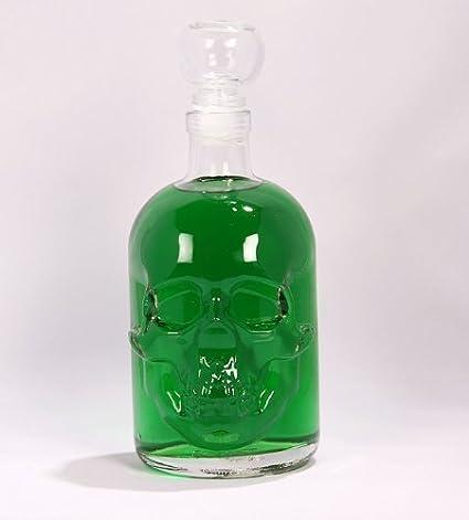 Absinthe 55% vol 0,5 litro botella con Calavera- de VIDRIO tapón de