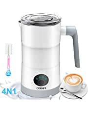 Newoer Electric Milk Frother and Warmer,4 in 1 Automatic Milk Frothers 400W Automatic Milk Foam Maker with Hot & Cold Milk Functionality for Latte Coffee Hot Chocolates Cappuccino