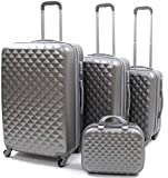Limra Luggage Trolley Bags set of 4 Pcs, 90899 - Grey