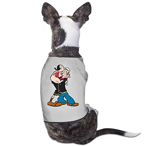 [Popeye The Sailor Kiss Sleeveless Dog Costume Pet Supplies] (Popeye Costumes)