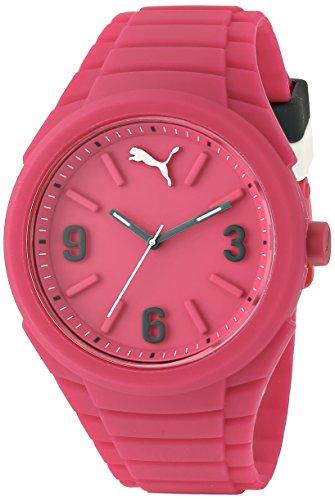 PUMA Unisex PU103592004 Gummy Analog Display Analog Quartz Pink Watch (Pink Unisex Watch)