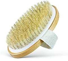 Our Natural Bristle Body Brush is the Absolute Essential Tool for Dry Skin Brushing and Lotion Application of all Cellulite Cream, Dead Sea Mud Mask, Arabica Coffee Scrub, Epsom Salt and Firming tightening Lotions.