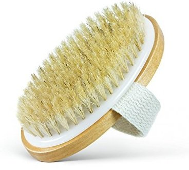 Dry Body Brush - 100% Natural Bristles - Cellulite Treatment, Increase Circulation and Tighten Skin. (Pack of 1)
