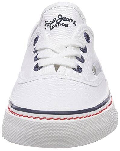 Pepe London De Mujer 800white Deportiva Blanco Weiß Jeans Alford Zapatilla Basic Lona rrnYw5x8