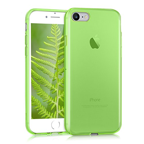 kwmobile Crystal Case for Apple iPhone 7/8 - Soft Flexible TPU Silicone Protective Cover - Green