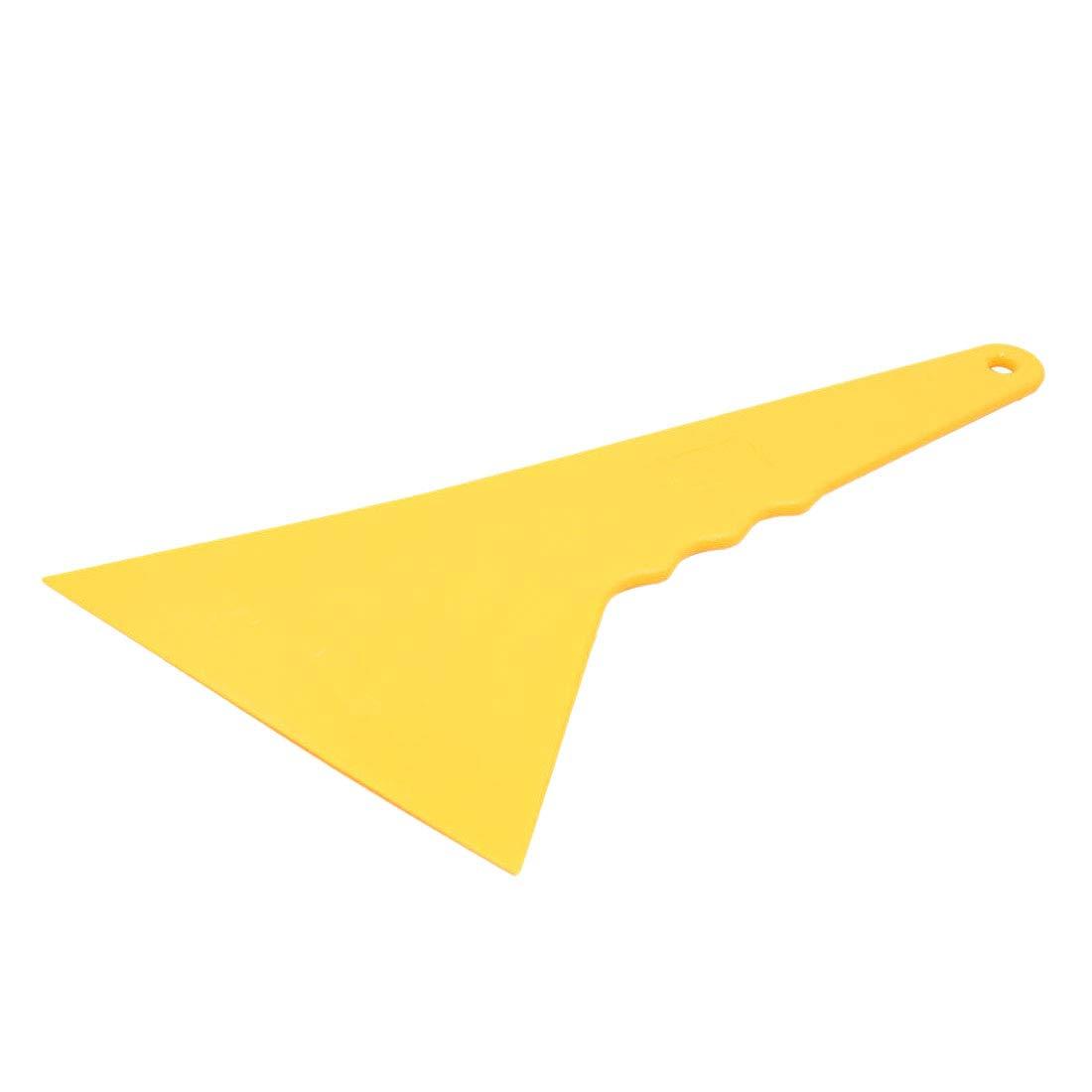 WOVELOT Pl/ástico Amarillo Auto Etiqueta de La Ventana del Coche Pel/ícula Rascador Escobilla de Goma Herramienta de Limpieza 10.5X9.5Cm