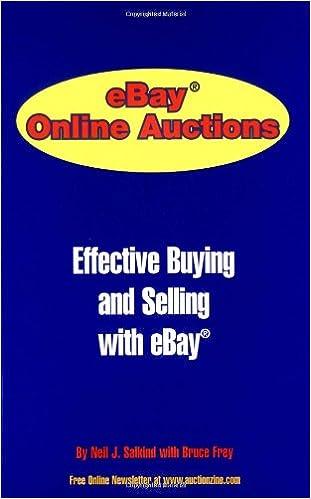Ebay Online Auction Salkind Neil J Frey Bruce 9780966288940 Amazon Com Books