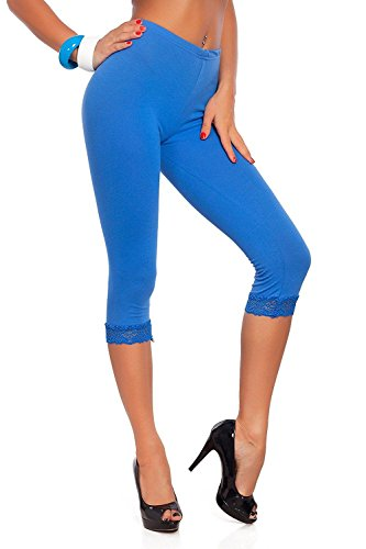 Wome's Cropped 3/4 Lenght Viscose Leggings Ladies Leggings With Lace