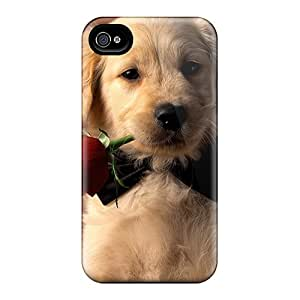 Hot Snap-on Romantic Puppy Hard Cover Case/ Protective Case For Iphone 4/4s