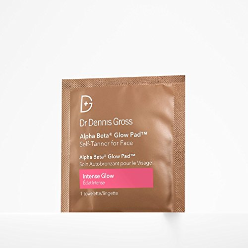Dr. Dennis Gross Alpha Beta Glow Pad Self-Tanner for Face | Intense Glow - 20 Towelettes .07 fLoZ / 2.2 mL each