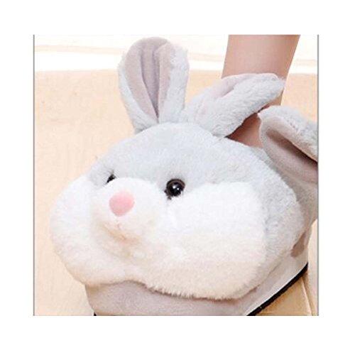 da Inverno casa di Coniglio Fat Carine scivoloso Cotone Caldo Pantofole Pantofole rabbit qZWWtvnOPS