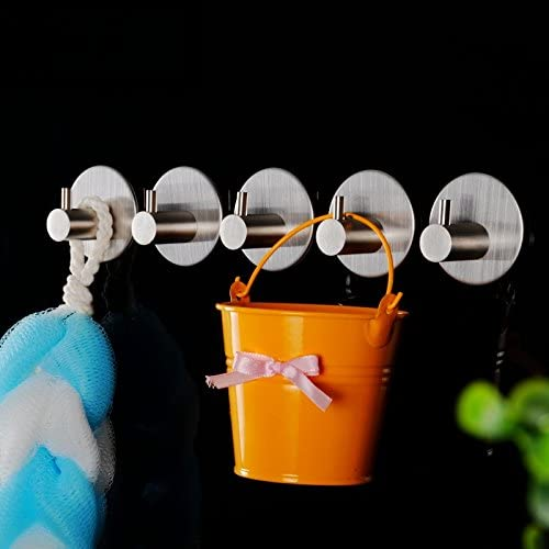 Waterproof Plastic Hanger Hooks Self Adhesive Wall Door Strong Sticky Holder Kit