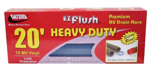Valterra D04-0042 EZ Flush Blue 20' Boxed Heavy Duty Drain Hose - 20' Heavy Duty Sewer Hose