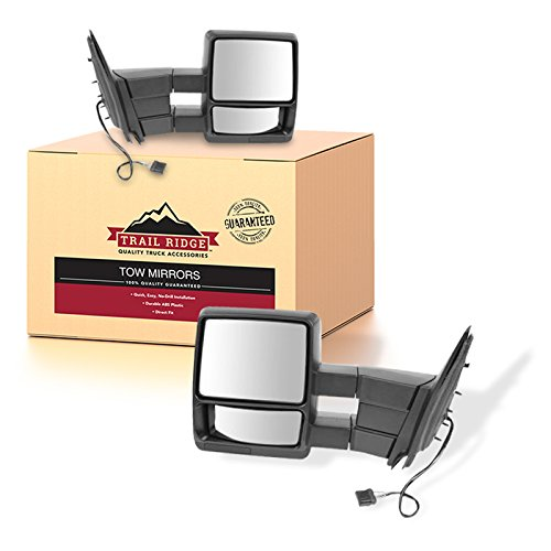 Trail Ridge Tow Mirror Power Heated Textured Black Pair Set for 98-02 Expedition