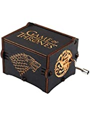 Pure Hand Classic Game of Thrones Music Box Hand Wooden Music Box Creative Wood Craft Best Gifts(PLUS version)