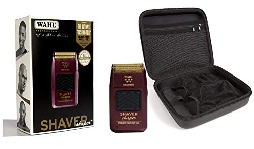 Wahl Professional 5-Star Series Rechargeable Shaver Shaper 8061-100 with Travel Storage Case 90731 Great for Barbers and Stylists