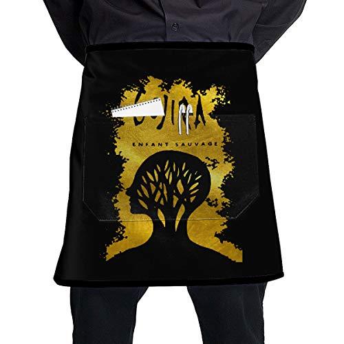 Chef Apron Gojira L'enfant Sauvage Salon Stain Resistan BBQ Waiter Long Waist Aprons