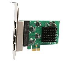 Syba 4 Port (Quad) Gigabit Ethernet PCI Express 2.1 PCI-E x1 Network Adapter Card (NIC) 10/100/1000 Mbps Card with Realtek Chipset