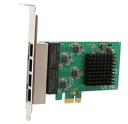 Syba SI-PEX24042 4 Port Gigabit Ethernet PCI-e X1 Network Interface Card