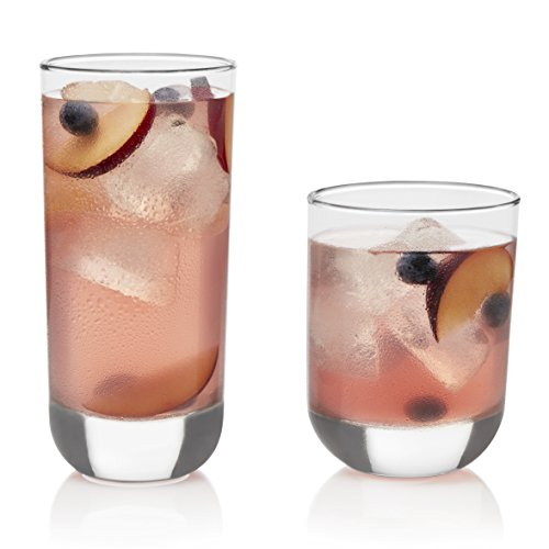 Libbey Polaris Drinking Glasses and Tumblers, Set of 16 by Libbey