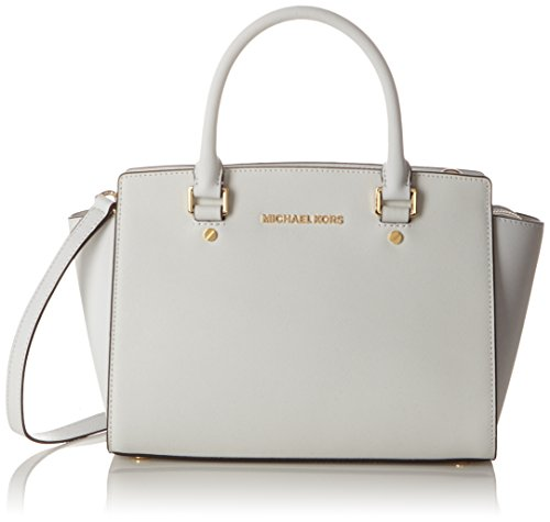 Michael Kors Md Tz Satchel - Bolso con asas Mujer Optic White