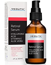 Retinol Serum 2,5% met Hyaluronzuur, Aloë Vera, Vitamine E – Verhoogd de Collageen Productie, Reduceerd Rimpels, Fijne Lijnen, Zelfs Huid verkleuring, Leeftijds en Zon Pigmenten, - 30Ml – YEOUTH – Gemaakt in de USA