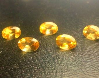 Citrine Parcel (5 Natural Oval Cut AAA Citrine Gemstone Parcel for Wire Wrapping or Jewelry.)