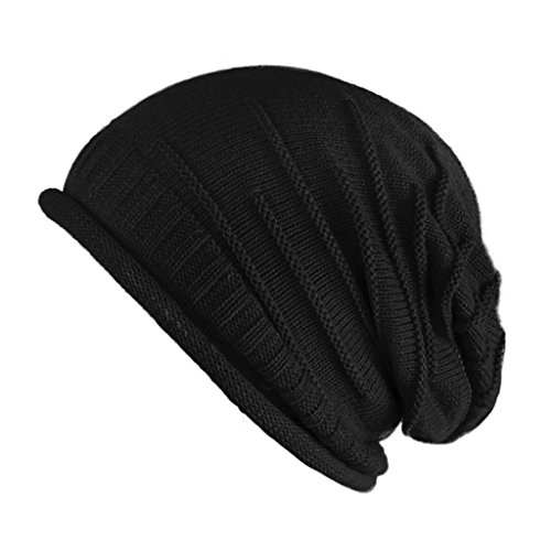 FUNOC Unisex Women Men Winter Warm Ski Knitted Crochet Baggy Beanie Hat Cap Beret