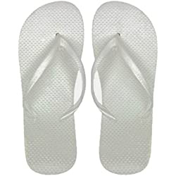 DDI Wholesale Women's White Flip Flops