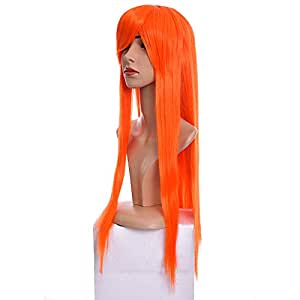Wig for ladies with slant face cover