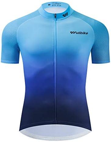 Maglia da Ciclismo Manica Corta da Uomo per Assorbimento del Sudore Estivo Abbigliamento da Ciclismo Sportivo Keenso Maglia da Ciclismo