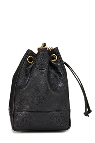 465e8511b267 CHANEL Black Caviar Triple 'CC' Bucket Bag Small (Pre-Owned ...