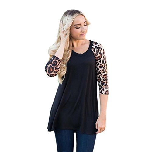 IEason Women Shirt, 2017 Hot Sale! Women Plus Size Tops Long Sleeve O-Neck Casual Floral Print Shirt Blouse (3XL, Yellow) Adapter Womens Long Sleeve