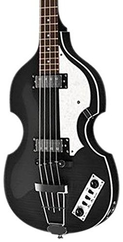 Hofner IGNITIONBK Ignition Electric Violin Bass Guitar, Rosewood Fingerboard, Black Finish by Hofner
